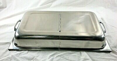 Full Size Steam Table Lid Stainless Steel Hinged Cover