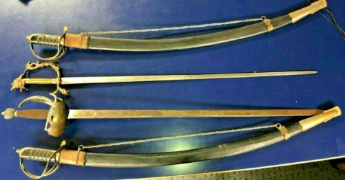 Collection of 4 replica swards for re-enactment or theatrical show