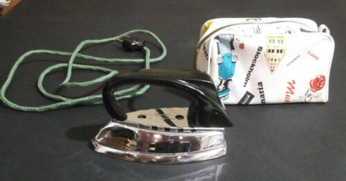 ZOELLER Vintage Electric Travel Clothing Iron & CASE - Western Germany TESTED !!