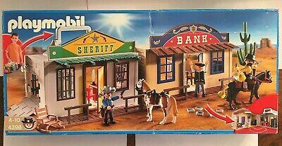 Playmobil 4398 Take Along Western City Sheriff Bank Cowboy Jail Kid's Carry Toy