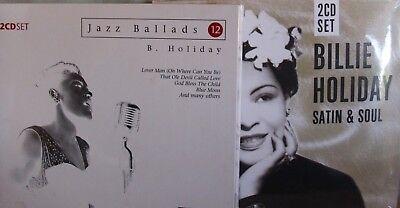 Billie Holiday- Satin & Soul/ Jazz Ballads- 2x2 CDs im Digipak OVP