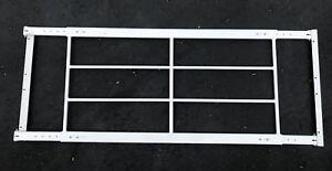 Mr. Goodbar 42-54 42x 21 White Swing-Away Window Security Bar