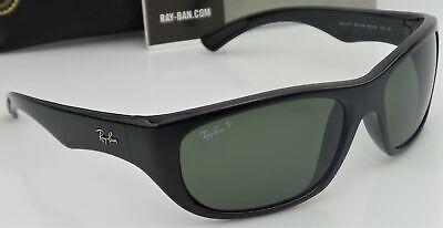 Ray Ban RB4177 601/58 Herren 63mm Schwarz Rahmen Grün Polarisierte Linse