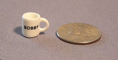 Miniature Mug dollhouse size, Personalized up to ten letters, by Tim Van - Vans Personalized