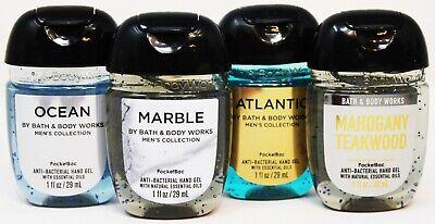 x4 Bath Body Works Pocketbac Hand Sanitizer Anti Bacterial Gel Men's Assorted