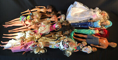 Barbie Dolls Lot of 17- Bulk Mattel dolls - Vintage and Modern Girls