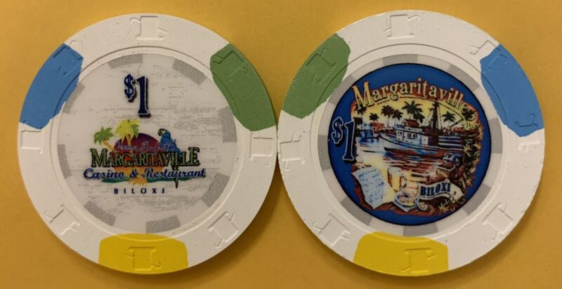 Margaritaville Casino $1 Chip From Biloxi Mississippi — Uncirculated