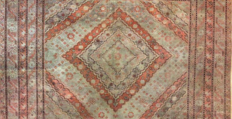 Superb Samarkand - 1900s Antique Khotan Rug - Oriental Carpet - 6.10 X 13.3 Ft.