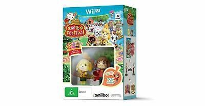 AMIIBO FESTIVAL Animal Crossing Game 2 Amiibo & 3 Cards - Nintendo Wii U - NEW