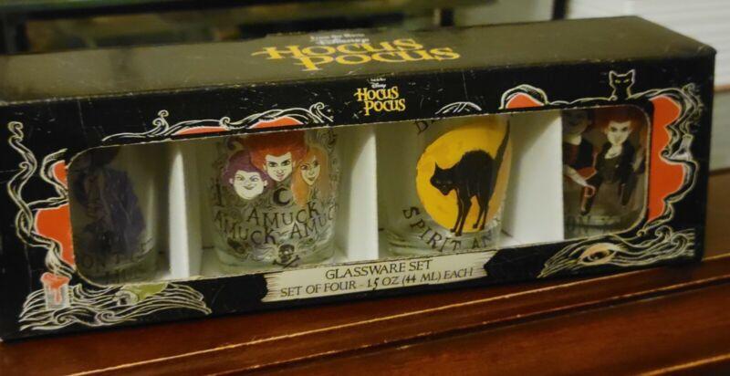 Disney Hocus Pocus Shot Glass (Set of 4) 1.5 oz New in Box