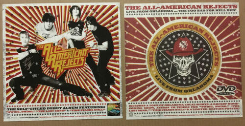 ALL AMERICAN REJECTS 2003 SET of 2 DOUBLE SIDED PROMO POSTER FLAT For LIVE DVD