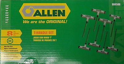 Allen 56650G SAE Dual Material T-Handle Set, 8-Piece