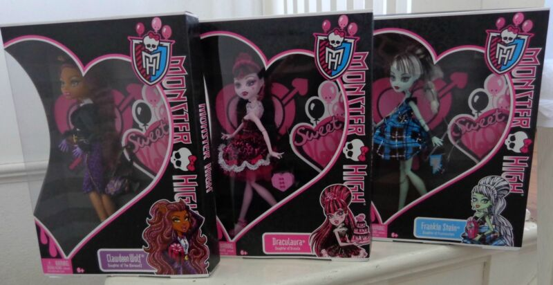 Monster High Sweet 1600, set of 3 dolls
