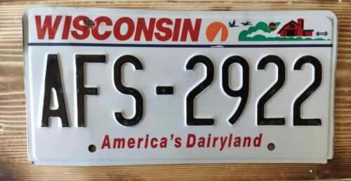 USA Nummernschild/Kennzeichen/license plate/US car/Harley/Deco * Wisconsin *