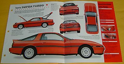 1990 1991 1992 93 1989 Toyota Supra 232 hp Inline 6 EFI IMP info/Spec/photo 15x9