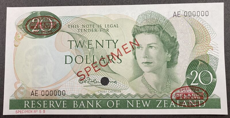 New Zealand Specimen Banknote P 167a