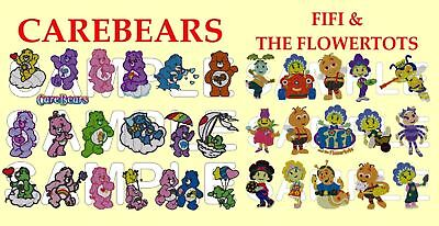 2 IN 1, 80+ CAREBEARS & FIFI & THE FLOWERTOTS, PES EMBROIDERY MACHINE DESIGNS CD