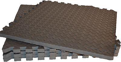 Meingesundheitshaus Boden Schutzmatten Set, 4x Puzzlematten 60x60x2,4cm, Studio