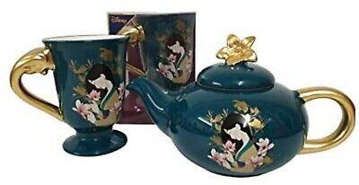 Disney Princess Mulan Tea Set Teapot With 2 Piece Cup Floral Print...