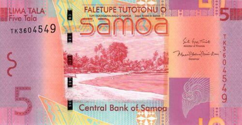 Samoa (Western Samoa) 5 Tala 2017 Banknote, P-38, UNC