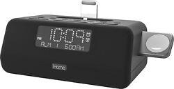 iHome iPLWBT5 Combination Radio Alarm Clock & iPhone + Apple Watch Charging Dock
