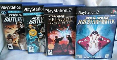 PLAYSTATION 2 (PS2) Star Wars X 4 Games (Starfighter-Revenge-Battlefront 1&2)