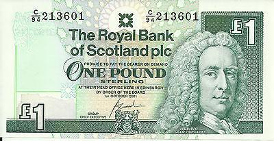 Rare £1 One Pound Scottish Bank Note Uncirculated Royal Bank of Scotland