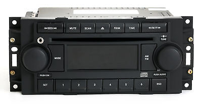 (2004-10 Chrysler Dodge Jeep REF Radio AM FM CD Upgraded w Aux Input P05091710AE)