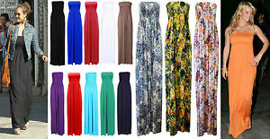 New-Style-Women-Boobtube-Ladies-Sheering-Strapless-Bandeau-Long-Maxi-Girls-Dress