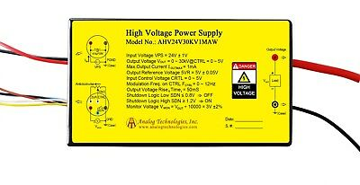 High Voltage Power Supply Ahv24v30kv1maw Linear Regulation Usa Ship Shutdown