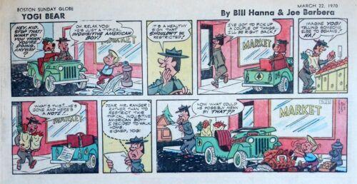 Yogi Bear by Eisenberg - Hanna-Barbera - color Sunday comic page, March 22, 1970
