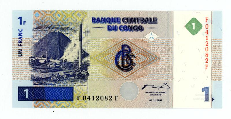 Congo Democratic Republic … P-95a … 1 Francs … 01.11.1997 … *UNC*