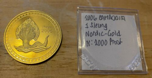 2006 CAMBODIA 1 SLEUNG Nordic-Gold Proof 2,000 Minted
