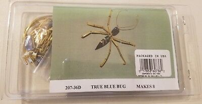 True Blue Bug Glass Beaded Pin Brooch Beading Jewelry Craft Kit Mac Enterprises