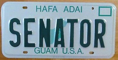 Guam 1980's VANITY - SUPERB QUALITY License Plate SENATOR