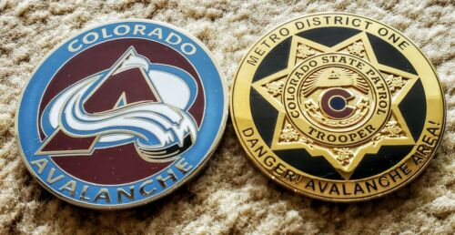 Colorado Avalanche / Colorado State Patrol coin