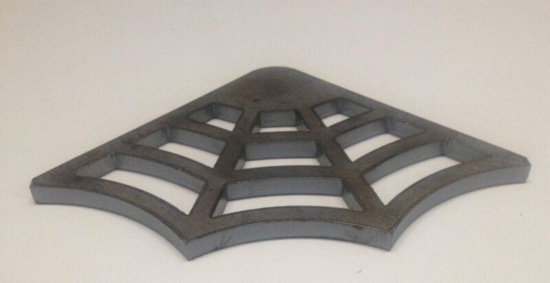 """Spider Web Steel Gusset, 1/4"""" Mild Steel, Weld Gusset, 3"""" x 3"""" Legs"""