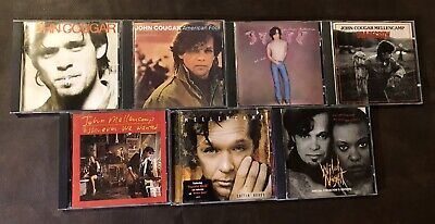 John Cougar Mellencamp Lot of 7 CDs: incl. Scarecrow,Uh-huh,American Fool, -