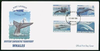 Mayfairstamps British Antarctic Territory 1996 Whales combo First Day Cover wwo9