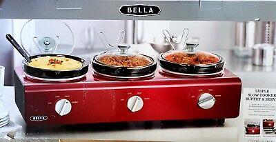 Bella® Red Triple 2.5-Quart Slow Cooker Buffet & Serve