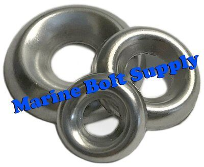 18-8 Stainless Steel Countersunk Finishing Cup Washers Sizes 4 To 516