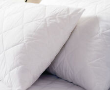 NEW Pair Hotel Quality Anti Allergy Poly Cotton Quilted Pillow Protectors SALE