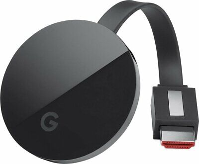 Google Chromecast Ultra 4K Media Streaming Player with Wi-Fi Connectivity, Black