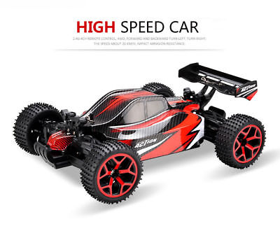 (1:18 RC Car 2.4Ghz 4WD High Speed Remote Control Vehicle Off Road Dune Buggy Red)