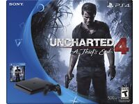 PS4 Slim 500GB With Uncharted 4 & Call of Duty infinite warfare! --