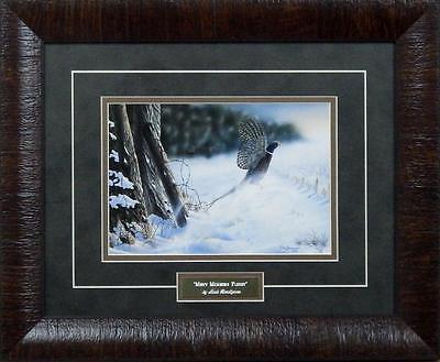 """Mark Bordignon """"Misty Morning Flight"""" Pheasant Framed Print  17"""" x 14"""""""