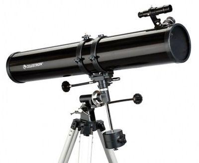 Celestron Powerseeker 114EQ Newtonian Reflector Telescope For Astronomy (Black)