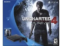 Sony Playstation 4 PS4 Slim 500gb Uncharted 4 Bundle New sealed, NO OFFERS/ SWAPS