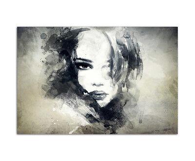 Abstrakte Mädchen (120x80cm Handmalerei Gesicht Frau Mädchen abstrakt)
