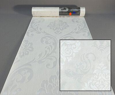 Vliestapete 13110-10 P+S Tapete Struktur Ornament weiß creme 1311010